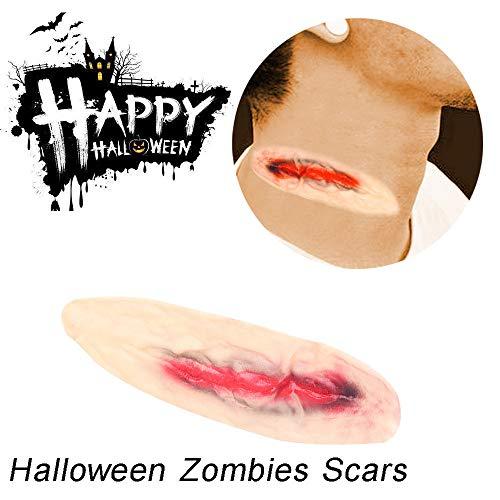WYPS Halloween Deko Cosplay Make-up-Simulation 3D Halloween Zombies Narben Tattoo Gefälschte Schorf Blut