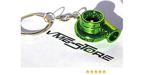 viola Effetto cromato VmG-Store Portachiavi a forma di turbocompressore con ruota rotante