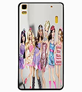 ColourCraft Beautiful Dolls Design Back Case Cover for LENOVO A7000 PLUS