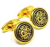 MESE London Chinesischer Drache Goldener Manschettenknöpfe Asiatische Schlange Hemd Bündchen - Elegante Geschenkbox