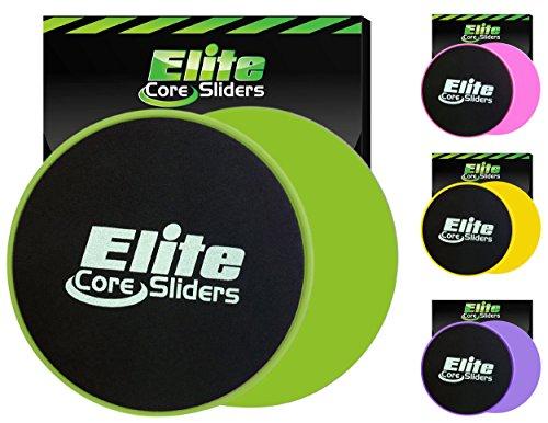 iders und Gliding Disc Fitness Training - Sliders Fitness für den Kern - doppelseitig für den Einsatz auf Teppich oder Parkett (Grün) (Elite-sportz-ausrüstung)