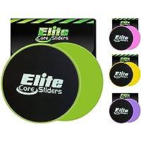 Preisvergleich für Elite Sportz Core Sliders und Gliding Disc Fitness Training - Sliders Fitness für Den Kern - Doppelseitig für Den Einsatz auf Teppich Oder Parkett