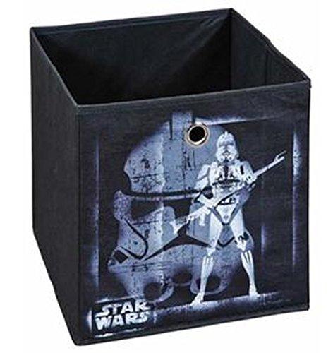 PEGANE Bac de Rangement Pliable Star Wars II Coloris Noir/Bleu, 32 x 32 x 32 cm