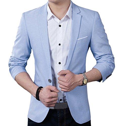 OUYE Herren Sakko Anzug Modern Classic Slim Fit Blazer XX-Large