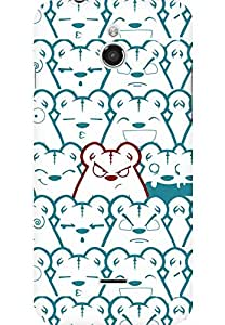 AMEZ designer printed 3d premium high quality back case cover for Infocus M2 (Picture bear emotions blue red)