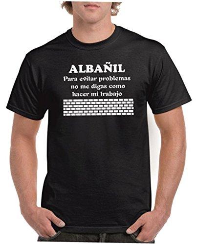 Child: Camisetas divertidas albañil, para evitar problemas no me digas como hacer mi trabajo - para hombre camisetas talla XL color negro