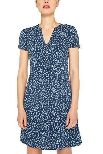 ESPRIT Damen 059EE1E004 Kleid, Blau (Navy 400), Herstellergröße: 36