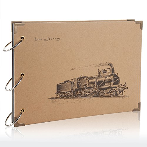 Flylther 30 fogli/60 pagine diy foto album per mini 8 8+ 9 70 7s 90 25 26 50s/ stampante fotografica portatile film - treno
