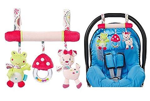 OurKosmos® Siège bébé Peluche Bébé Enfants Pram Poussettes Car Cot Musical Lit Cartoon Jouets cadeaux (couleur aléatoire)