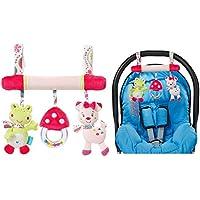 OurKosmos® Peluche Baby Baby Bambini carrozzina Passeggini Seggiolino Auto Cot Musical Bed Cartoon regalo Giocattoli (colore casuale)
