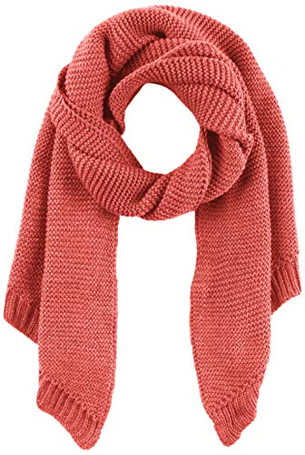 PIECES Damen Schal PCDACE Long Wool Scarf NOOS, Rot Cranberry, One Size