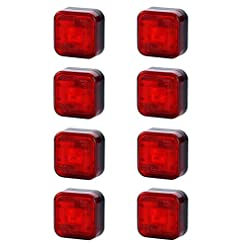 8x 4SMD LED rosso posteriore luce di indicatore laterale 12V 24V e-contrassegnato auto camion rimorchio camper caravan Van luce di posizione coda Quadrat quadrato universale