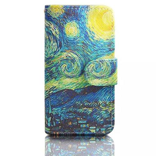 Sunnycase® Etui iPhone 5/5S Luxe PU Cuir Coque Housse Portefeuille Dragonne Case Cover de Protection Swag Shell avec Fonction Support Motif Papillon Fleur pour iPhone 5/5S - Violet clair Pattern 21