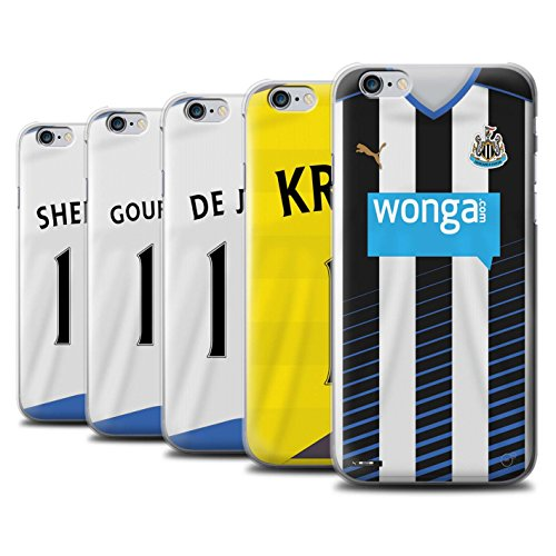 Offiziell Newcastle United FC Hülle / Case für Apple iPhone 6S+/Plus / Rivière Muster / NUFC Trikot Home 15/16 Kollektion Pack 29pcs