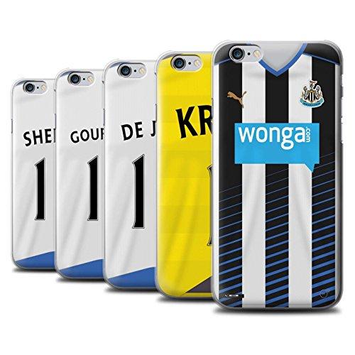 Offiziell Newcastle United FC Hülle / Case für Apple iPhone 6+/Plus 5.5 / Pack 29pcs Muster / NUFC Trikot Home 15/16 Kollektion Pack 29pcs