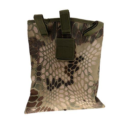 MagiDeal Taktische Hüfttasche / Gürteltasche, Mehrzweck für im Freien Aktivitäten, Gürtel hängende Tasche, Rucksack zusätzliche Tasche Python Druck