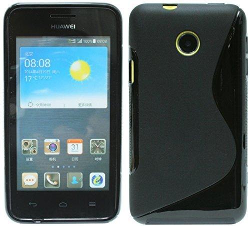 Huawei Ascend Y330 Silikon Hülle Schale Tasche in Schwarz @ Energmix