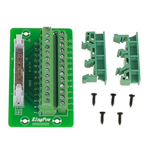 Klemmenblockmodul, Terminal Blocks Module, IDC26P DIN-Schiene 26Pin 5mm Mount Interface Module Stecker Breakout Board