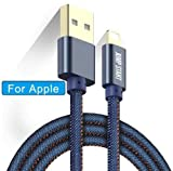JUMP START Denim Cloth Braided USB Fast Charging & Syncing Compatible Cable Cord