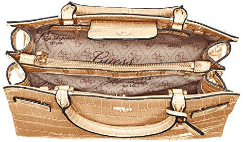 Guess Damen Cate Satchel Handtaschen, Einheitsgröße Grün (Nut)