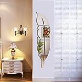 Helle Feder Wandaufkleber Spiegel, 3D Moderne Dekorative Spiegel Entfernbare Wandkunst für...