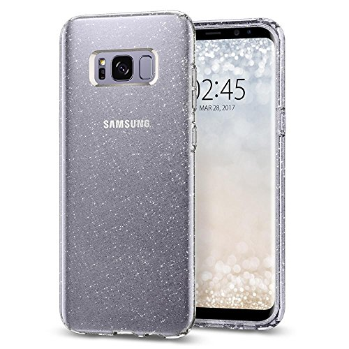 Spigen TPU Liquid Crystal Glitter Case for Galaxy S8+/Plus (Crystal Quartz)
