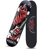 TTBF Double-up Skateboard 7 Layers Decks Skate Board Acero Longboard in Legno per Adolescenti Adulti Principianti Ragazze Ragazzi Bambini personalità Creativa