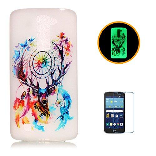 CaseHome LG K7 Luminous Hülle (Mit Frie Displayschutzfolie) Leuchtende Silikone Rückhülle Für iPhone 6 6s Plus 5.5 Zoll Zoll Silikon Etui Handy Hülle Weiche Transparente Luminous TPU Back Case Tasche  Bunte Traumfänger