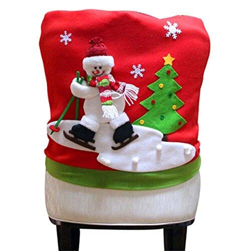 Lalang Weihnachten Stuhlhusse für Weihnachtstisch Dekoration (Schneemann)
