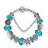 Bracelet Charms à Breloques Perles européen - 19 cm pour Femme et Petite Fille...