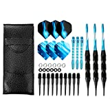 Crazy-m Dartpfeile Soft blau dartpfeile 3 Stück 20 g Dartset Turnier Soft Tip Dartpfeile Set,...