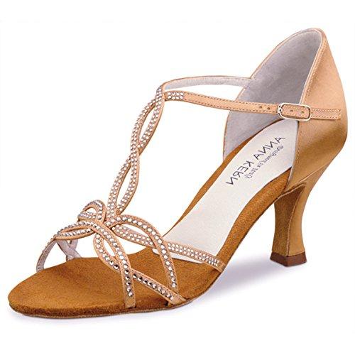 Anna Kern - Donne Scarpe da Ballo 919-60 - Raso Tan - 6 cm Tan