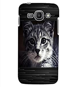 ColourCraft Cat Look Design Back Case Cover for SAMSUNG GALAXY ACE 3 S7272 DUOS