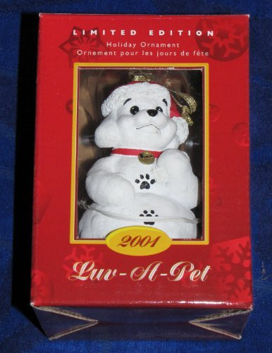 luv-a-pet-2001-limited-edition-snow-puppy-holiday-ornament-by-petsmart