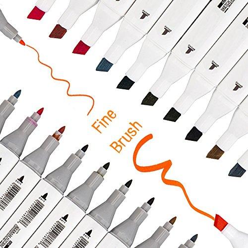 Pennarelli indelebili per tessuti set di 30 colori resistenti ai lavaggi colorati a doppia punta per stoffa.