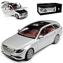 Kyosho Mercedes-Benz E-Klasse W213 T-Modell Kombi Iridium Silber Ab 2016 1/18 I-Scale Modell Auto mit individiuellem Wunschkennzeichen