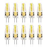 KAXun G4 LED Lampe Warmweiß, 250 Lumen, 2.5W, 3000K, G4 LED Leuchtmittel Ersatz 20W G4 Halogenlampe, 10er Pack,CR 85, 360° Abstrahlwinkel