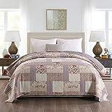 WOLTU BD16m02, Tagesdecke Bettüberwurf Steppdecke Patchwork Wendedesign Bettdecke Stepp Decke Doppelbett unterfüttert und gesteppt, 170x210 cm