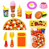 SVE Pizza Set Toys For Kids, Kitchen DIY Pretend Play Mini Fast Food Toy For Kids (Multicolor)
