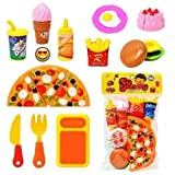#9: SVE Pizza Set Toys for Kids, Kitchen DIY Pretend Play Mini Fast Food Toy for Kids (Multicolor)