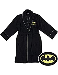 Batman Logo Bathrobe black