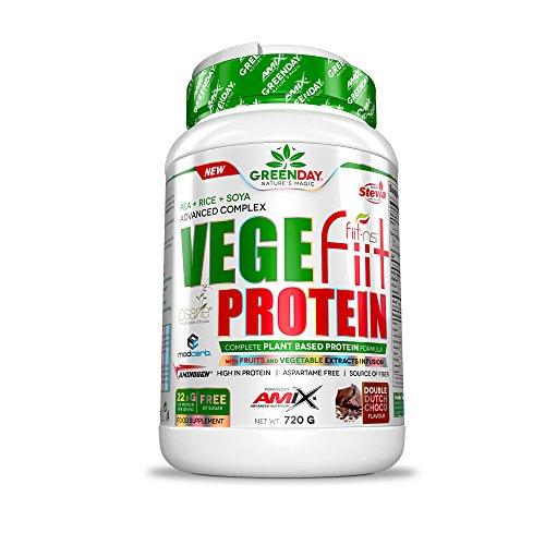 Amix GreenDay Vegefiit Protein - Proteina Vegetal 720 gr - Crema de Cacahuete