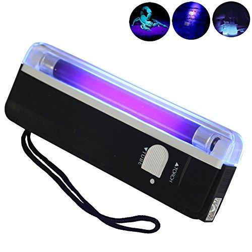 AmyGline Handheld UV Schwarzlicht Taschenlampe Portable Blacklight mit wasserdichter ultravioletter LED Taschenlampe -