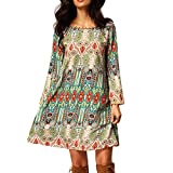ROPALIA Women Backless Vintage Floral Mini Dress Casual Party Vacation Sundresses 8-18