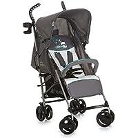 Hauck/Poussette Canne Speed Plus S/avec position de couchage/pliage compact/avec porte-boissons/pour enfants à partir de 6 mois jusqu'à 22 kg, gris turquoise (forest fun)