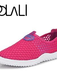 ZQ Zapatos de mujer - Tacón Plano - Punta Redonda - Mocasines - Exterior / Casual / Deporte - Tul / Tejido -Negro / Naranja / Coral / Azul , royal blue-us9 / eu40 / uk7 / cn41 , royal blue-us9 / eu40 / uk7 / cn41