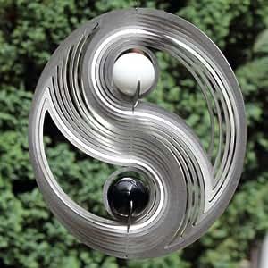 edelstahl windspiel yin yang mit zwei 35 mm. Black Bedroom Furniture Sets. Home Design Ideas