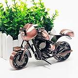 Signstek - Modelo de moto de hierro hecho a mano, vintage. Pieza de arte coleccionable para los amantes de la motocicleta.