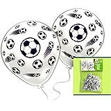 FUSSBALL Geburtstag-Deko-Set, 55-teilig zum Kinder-Geburtstag Jungen und Mädchen und FUßBALL- Motto-Party für 8 Kids - 9