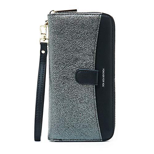 Homeyou Pailletten Brieftasche Große Kapazität Lässige Mode Armband Handschlaufe Lange Geldbörse -